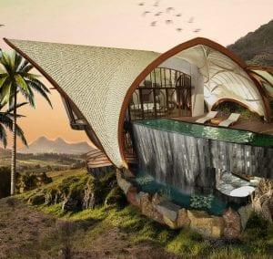 Luxury villa exterior