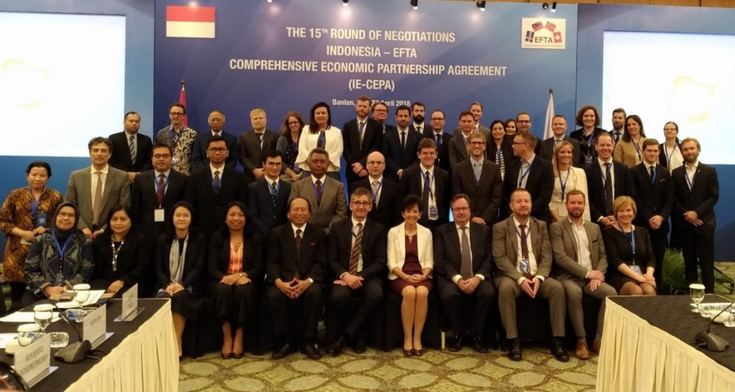 Indonesia free trade deal with EFTA countries to be signed in December