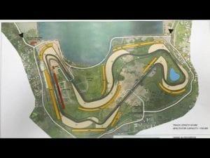 Indonesian MotoGP circuit in Lombok