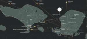 Map of Bali and Lombok Island