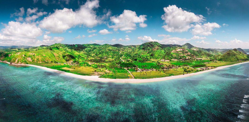 Torok beach panorama
